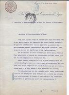 Lettre Chambre Commerce De Lyon De 1912 Au Sujet Colis-postaux Et Note Sous-secrétariat Des Postes Et Télégraphes - Parcel Post