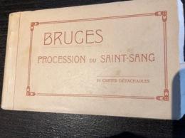 Brugge Procession Du Saint Sang Heilige Bloedprocessie Boekje 23 Kaarten Brugge  . M 3890 - Damme