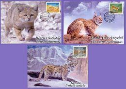 Kazakhstan 1998. Maxicard. Wild Cats. Maximum Cards. - Kazakhstan