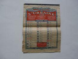 VIEUX PAPIERS - CALENDRIER 1922 : L'URBAINE VIE - Calendriers