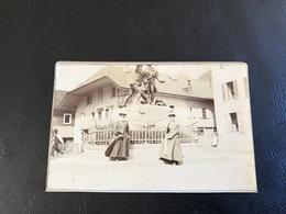 2 PHOTOS XIXe CHAMONIX (proche Statue Saussure) & Randonnée Sur La Varenne - Lieux
