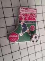 415c Pin's Pins / Rare & Belle Qualité !!! THEME : COCA-COLA FOOTBALL EURO 2012 DEMI FINALE BALLON SUR RESSORT - Coca-Cola