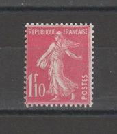 FRANCE / 1927 / Y&T N° 238 ** : Semeuse Fond Plein 1F10 Rose X 1 - Unused Stamps