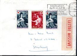 LETTRE 1968 - SERIE CROIX ROUGE, LE PRINTEMPS ET L'AUTOMNE + 1 EXEMPLAIRE LE PRINTEMPS - - France