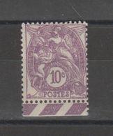 FRANCE / 1929 / Y&T N° 233 ** : Blanc 10c Violet X 1 BdF Bas - Unused Stamps