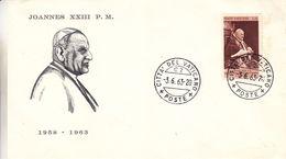 Vatican - Lettre De 1963 - Oblit Citta Del Vaticano - Pape Joannes XXIII - Vatican