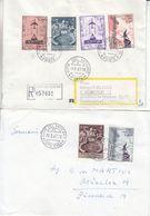 Vatican - 2 Lettres De 1967 - 1 Recom - Oblit Citta Del Vaticano - - Vatican