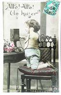 CArte Postale  Enfant Téléphone - Telefonía