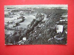 CPSM  LA FRANCE VUE DU CIEL  FRETEVAL  LA TOUR LE LOIR ET LA ROUTE DU CHALET  VOYAGEE 1960 TIMBRE - France