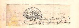 Cachet Généralité De Bourges   Sur Fragment Papier Début 18 Eme - Cachets Généralité