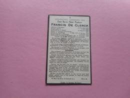 D.P.-EERW H PASTOOR FRANCIS DE CLERCK °HOUWAART 12-11-1862-+ALDAAR 18-11-1948 - Religion & Esotericism