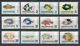 264 - CHRISTMAS 1968/70 - Yvert 22/33 - Poisson - Neuf ** (MNH) Sans Trace De Charniere - Christmas Island
