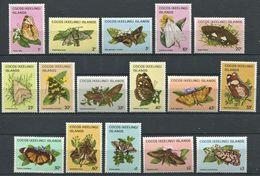 264 - COCOS 1982/83 - Yvert 86/89 Et 93/104 - Papillon - Neuf ** (MNH) Sans Trace De Charniere - Cocos (Keeling) Islands