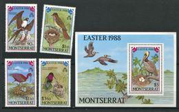 264 - MONTSERRAT 1988 - Yvert 669/72 BF 45 - Oiseau Nid - Neuf ** (MNH) Sans Trace De Charniere - Montserrat