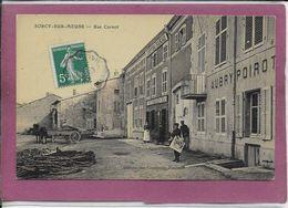 55.- SORCY .- Rue Carnot  ( Carte Toilée ) - France