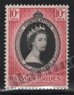New Hebrides - Nouvelles Hebrides 1953 Yvert 166, Royalty. Queen Elizabeth Coronation - English - MNH - English Legend