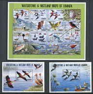 264 - OUGANDA 1995 - Yvert 1181/96 BF 216/17 - Oiseau - Neuf ** (MNH) Sans Trace De Charniere - Ouganda (1962-...)