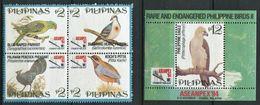 264 - PHILIPPINES 1983 - Yvert 2112/15 BF 83 - Oiseau - Neuf ** (MNH) Sans Trace De Charniere - Filipinas