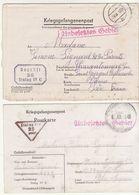 Lot De 2 Correspondances  Prisonnier Stalag IV C, Marques De Censure 25 Et 26. - Guerra Del 1939-45