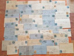 France - Lot De 50 Lettres Classiques  - DEPART 1 EURO - Marcophilie (Lettres)