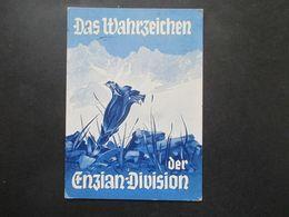 3.Reich Propagandakarte Künstler AK Das Wahrzeichen Der Enzian Division Feldpost Karte Vom 16.4.1945 Bedarf Selten / RRR - Cartas