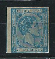 Cuba Sueltos 1878 Edifil 44s Sin Dentar * Mh - Kuba (1874-1898)