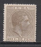 Cuba Sueltos 1883 Edifil 104 * Mh  Bonito - Cuba (1874-1898)