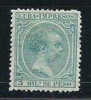 Cuba Sueltos 1896 Edifil 143 * Mh - Cuba (1874-1898)