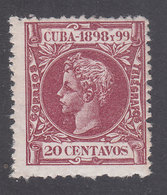 Cuba Sueltos 1898 Edifil 168 * Mh - Cuba (1874-1898)