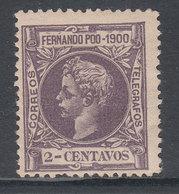 Fernando Poo Sueltos 1900 Edifil 80 ** Mnh Doblez - Fernando Po