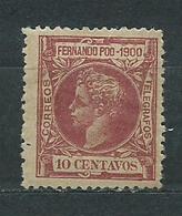 Fernando Poo Sueltos 1900 Edifil 86 * Mnh - Fernando Po