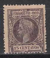 Fernando Poo Sueltos 1900 Edifil 87 * Mh - Fernando Po