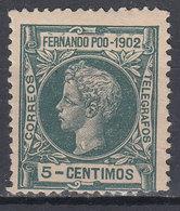 Fernando Poo Sueltos 1902 Edifil 110 * Mh - Fernando Po