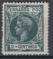 Fernando Poo Sueltos 1903 Edifil 121 * Mh - Fernando Po