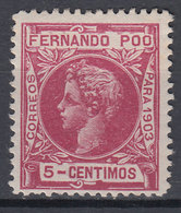 Fernando Poo Sueltos 1903 Edifil 124 ** Mnh - Fernando Po