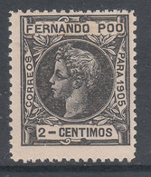 Fernando Poo Sueltos 1905 Edifil 137 ** Mnh - Fernando Po