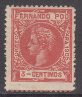 Fernando Poo Sueltos 1905 Edifil 138 ** Mnh - Fernando Po