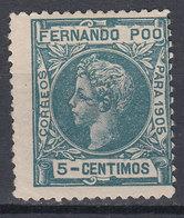 Fernando Poo Sueltos 1905 Edifil 140 * Mh - Fernando Po