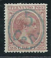 Fernando Poo Variedades 1896 Edifil 40Jhcc * Mh Sobrecarga Azul - Fernando Po