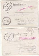 Lot De 2 Correspondances  Prisonnier Stalag IV C, Marques De Censure 34. - Guerra Del 1939-45