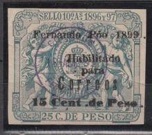 Fernando Poo Timbre M�vil 1898 Edifil 47G O - Fernando Po