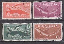 Guinea Correo 1954 Edifil 338/41 O - Guinea Española