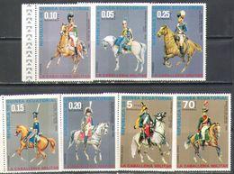 M2480 ✅ Horse Uniform Cavalry Army Soldiers War 1976 Guinea Equatorial 7v Set MNH ** - Militaria