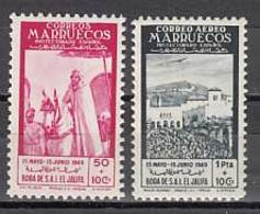 Marruecos Correo 1949 Edifil 305/6 ** Mnh - Spaans-Marokko