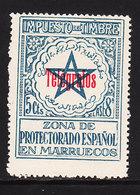 Marruecos Sueltos Telegrafos Edifil 34D ** Mnh  Impuesto - Spaans-Marokko
