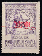 Marruecos Sueltos Telegrafos Edifil 34E O  Impuesto - Spaans-Marokko