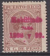 Puerto Rico Sueltos 1898 Edifil 157 * Mh - Puerto Rico