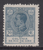Rio De Oro Sueltos 1920 Edifil 124 ** Mnh Punto De Aguja - Rio De Oro
