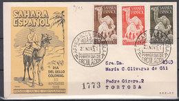 Sahara Sobres 1� D�a 1951 Edifil 91/3 - Spaanse Sahara