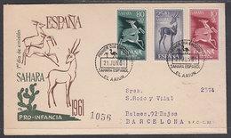 Sahara Sobres 1� D�a 1961 Edifil 190/2 - Spaanse Sahara